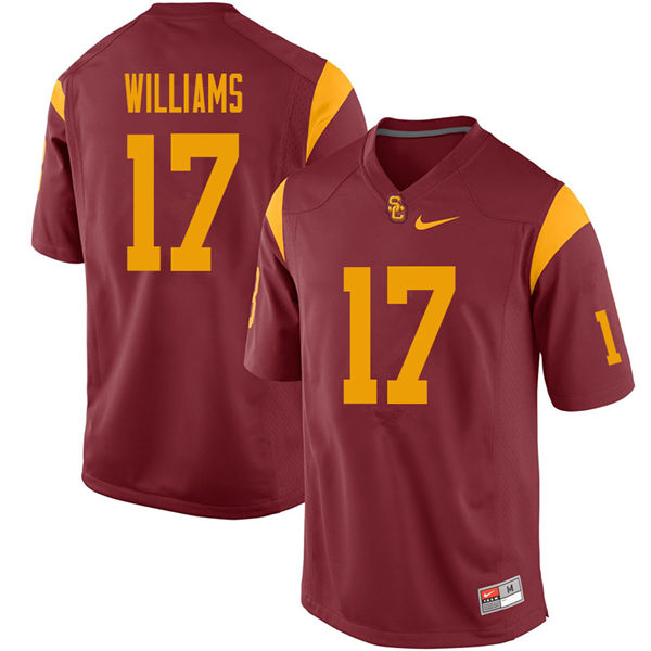Men #17 Chase Williams USC Trojans College Football Jerseys Sale-Cardinal