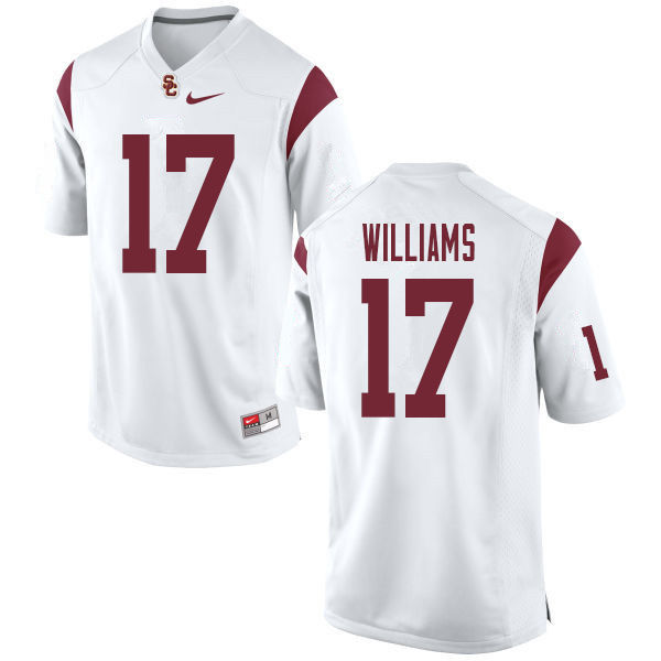 Men #17 Chase Williams USC Trojans College Football Jerseys Sale-White