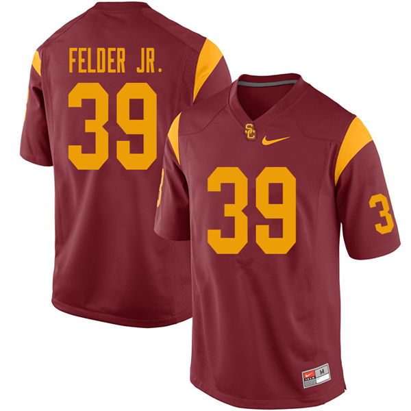 Men #39 Howard Felder Jr. USC Trojans College Football Jerseys Sale-Cardinal