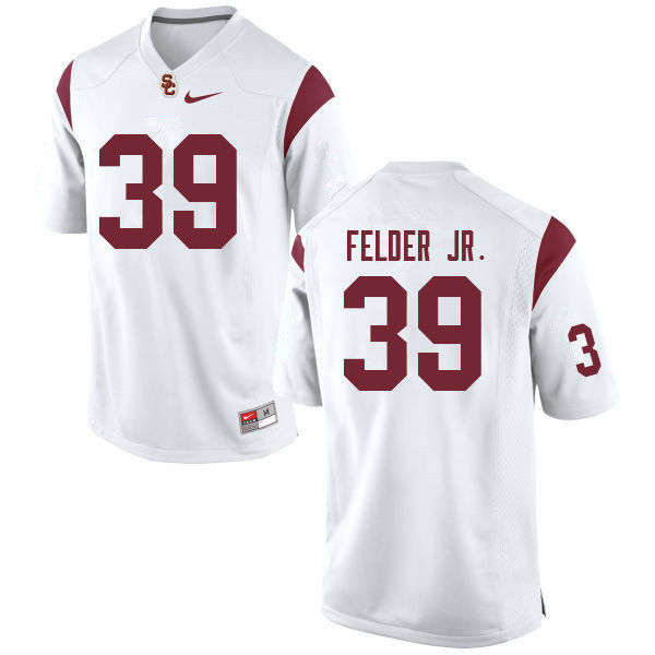 Men #39 Howard Felder Jr. USC Trojans College Football Jerseys Sale-White