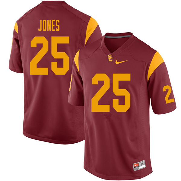 Men #25 Jack Jones USC Trojans College Football Jerseys Sale-Cardinal