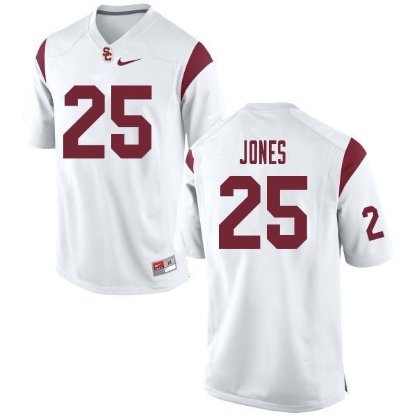 Men #25 Jack Jones USC Trojans College Football Jerseys Sale-White