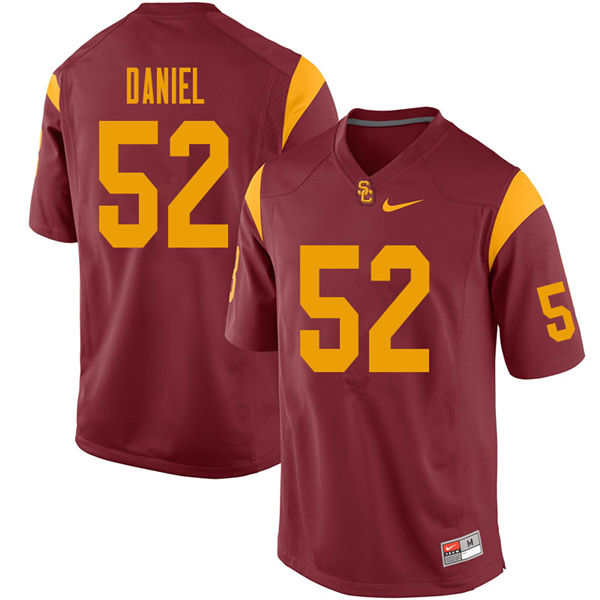 Men #52 Jacob Daniel USC Trojans College Football Jerseys Sale-Cardinal