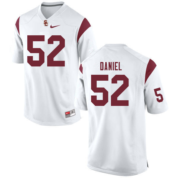 Men #52 Jacob Daniel USC Trojans College Football Jerseys Sale-White