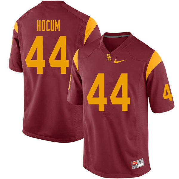 Men #44 Matthew Hocum USC Trojans College Football Jerseys Sale-Cardinal