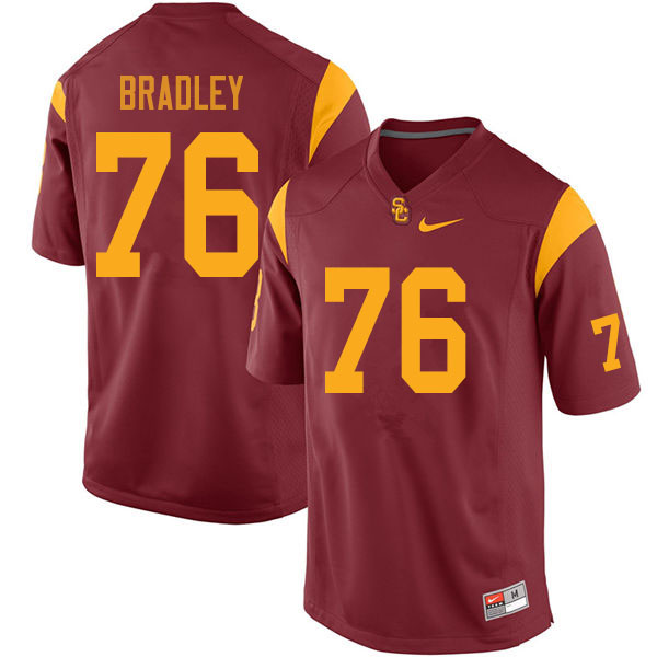 Men #76 Clayton Bradley USC Trojans College Football Jerseys Sale-Cardinal