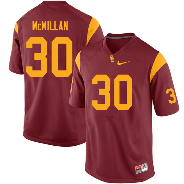 Men #30 Jordan McMillan USC Trojans College Football Jerseys Sale-Cardinal
