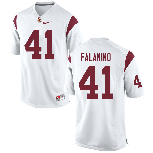 Men #41 Juliano Falaniko USC Trojans College Football Jerseys Sale-White