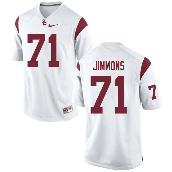 Men #71 Liam Jimmons USC Trojans College Football Jerseys Sale-White
