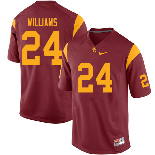 Men #24 Max Williams USC Trojans College Football Jerseys Sale-Cardinal