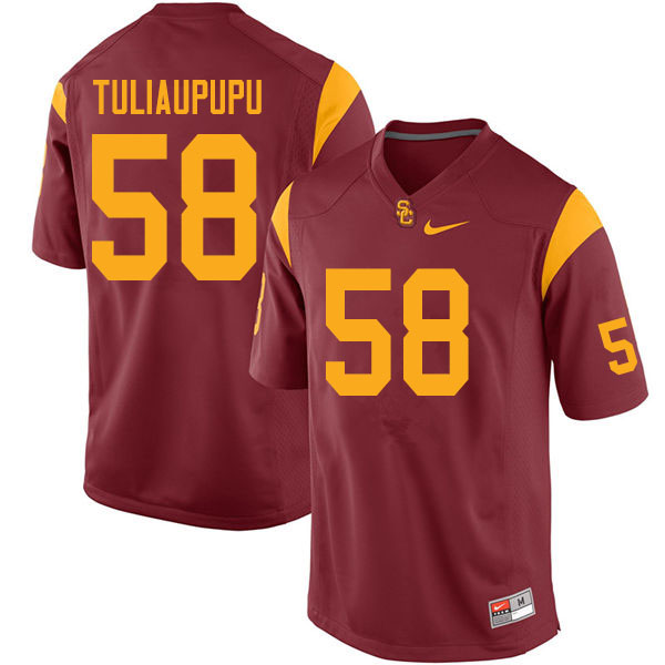 Men #58 Solomon Tuliaupupu USC Trojans College Football Jerseys Sale-Cardinal