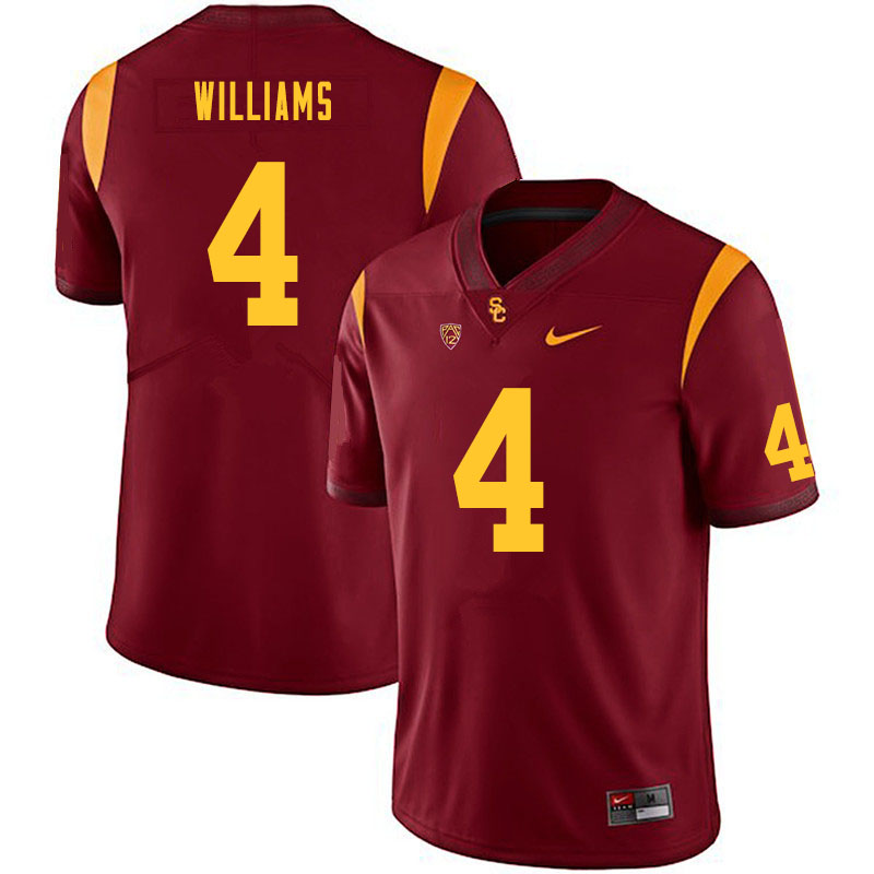 Men #4 Max Williams USC Trojans College Football Jerseys Sale-Cardinal