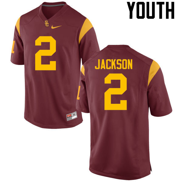 Youth #2 Adoree Jackson USC Trojans College Football Jerseys-Red