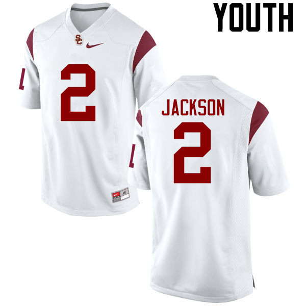 Youth #2 Adoree Jackson USC Trojans College Football Jerseys-White