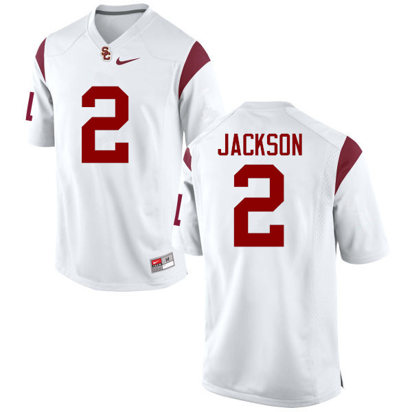 Men #2 Adoree Jackson USC Trojans College Football Jerseys-White