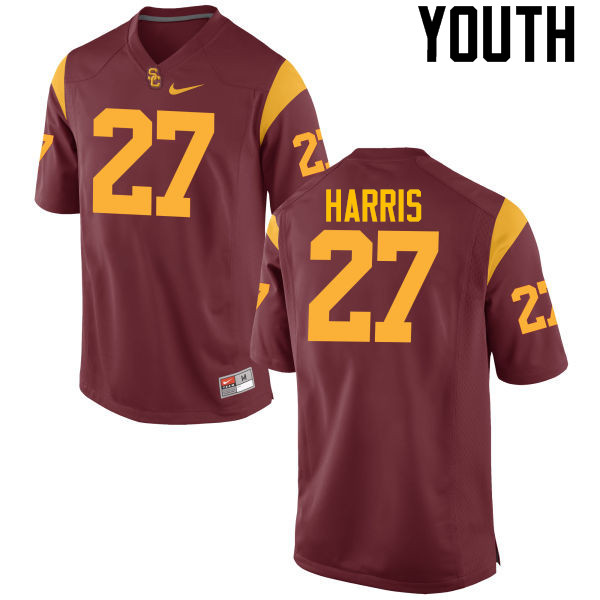Youth #27 Ajene Harris USC Trojans College Football Jerseys-Cardinal
