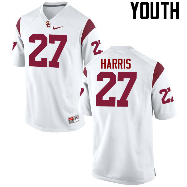 Youth #27 Ajene Harris USC Trojans College Football Jerseys-White