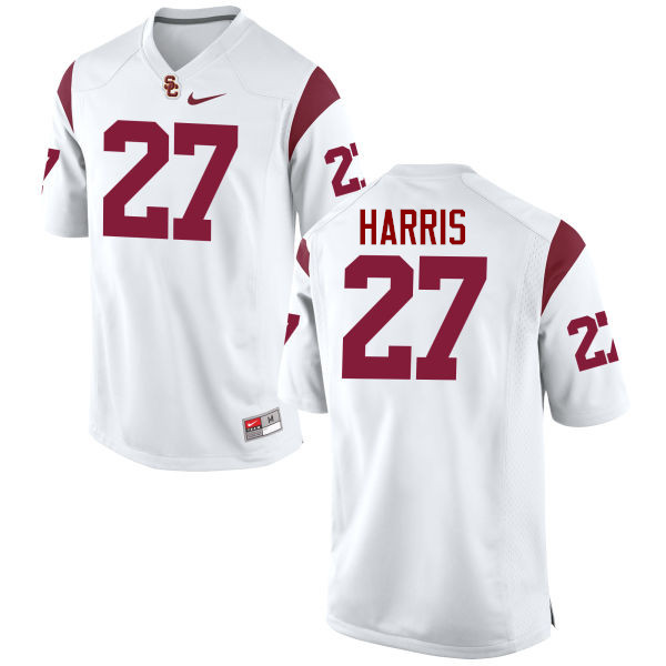 Men #27 Ajene Harris USC Trojans College Football Jerseys-White