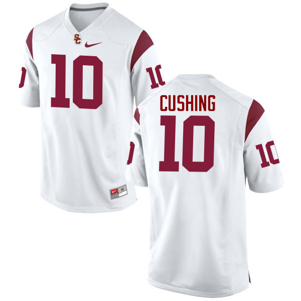 Men #10 Brian Cushing USC Trojans College Football Jerseys-White