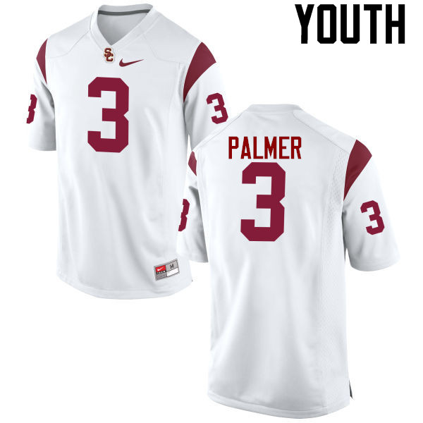 Youth #3 Carson Palmer USC Trojans College Football Jerseys-White