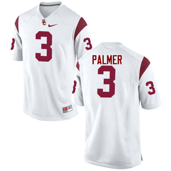 Men #3 Carson Palmer USC Trojans College Football Jerseys-White