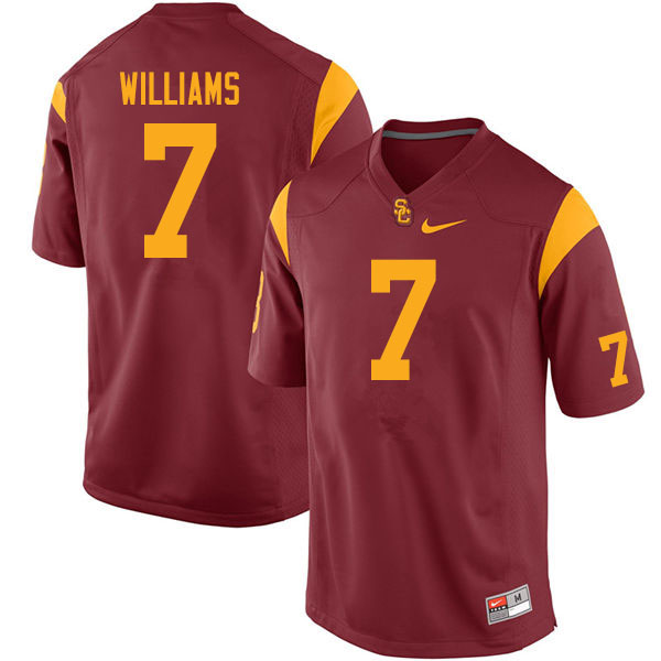 Men #7 Chase Williams USC Trojans College Football Jerseys Sale-Cardinal