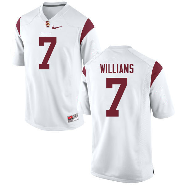 Men #7 Chase Williams USC Trojans College Football Jerseys Sale-White