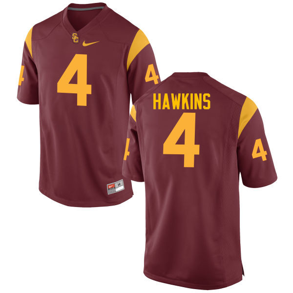 Men #4 Chris Hawkins USC Trojans College Football Jerseys-Cardinal