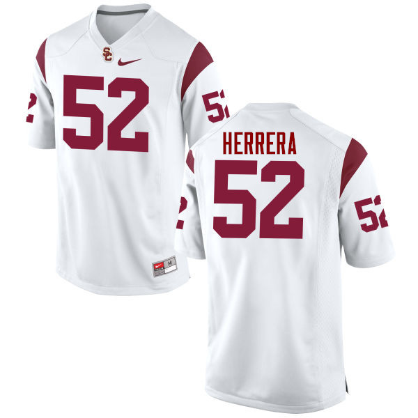 Men #52 Christian Herrera USC Trojans College Football Jerseys-White