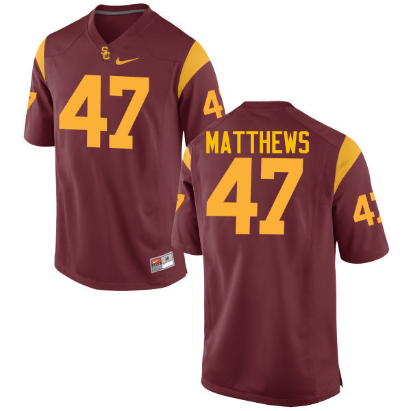 Men #47 Clay Matthews USC Trojans College Football Jerseys-Cardinal