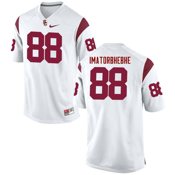 Men #88 Daniel Imatorbhebhe USC Trojans College Football Jerseys-White