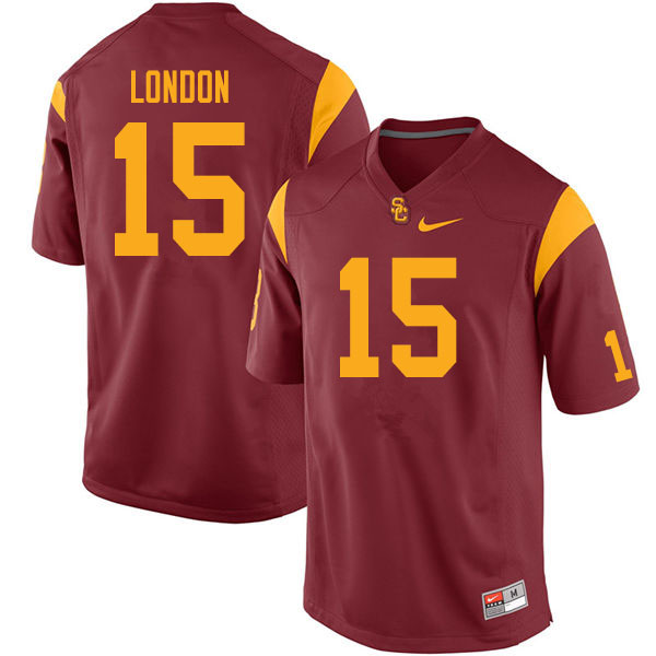 Men #15 Drake London USC Trojans College Football Jerseys Sale-Cardinal