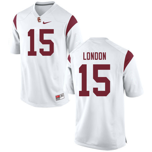 Men #15 Drake London USC Trojans College Football Jerseys Sale-White
