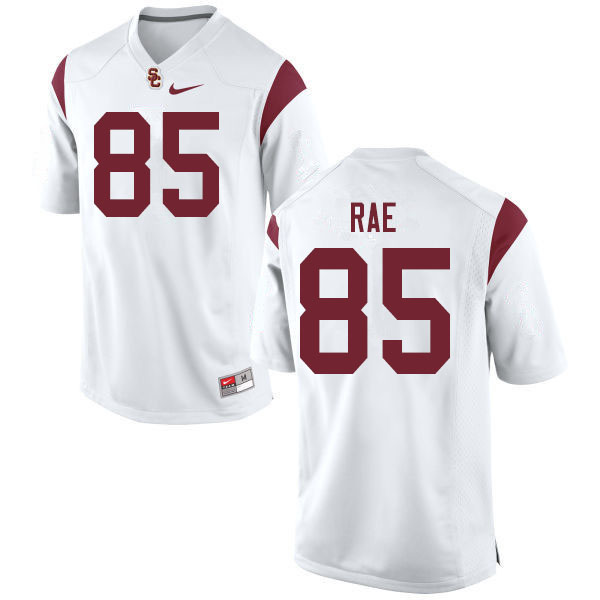 Men #85 Ethan Rae USC Trojans College Football Jerseys Sale-White