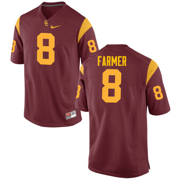 Men #8 George Farmer USC Trojans College Football Jerseys-Red