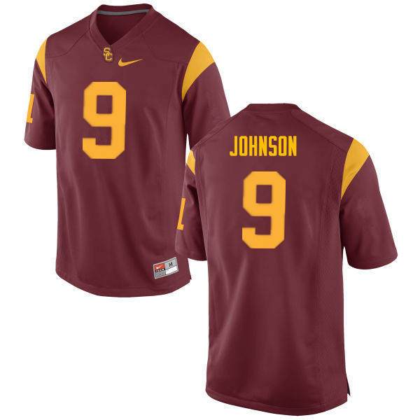 Men #9 Greg Johnson USC Trojans College Football Jerseys Sale-Cardinal