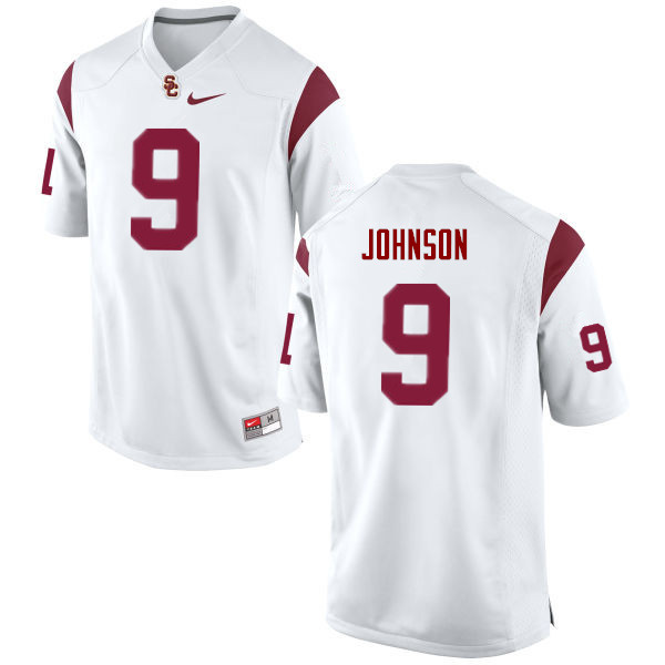 Men #9 Greg Johnson USC Trojans College Football Jerseys Sale-White