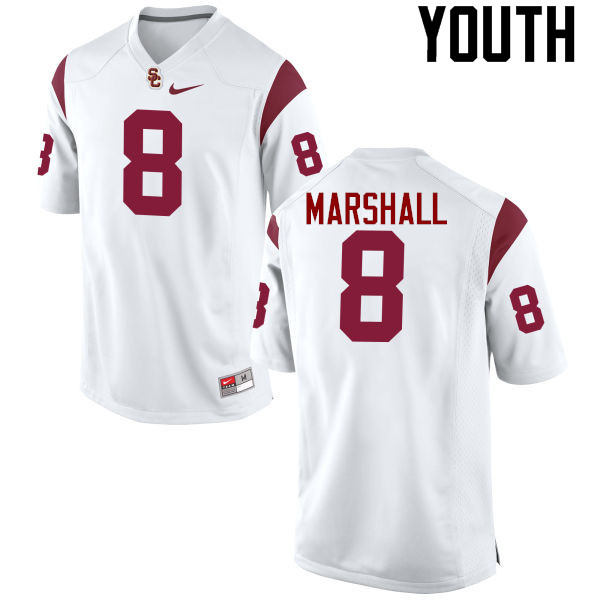Youth #8 Iman Marshall USC Trojans College Football Jerseys-White