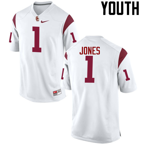 Youth #1 Jack Jones USC Trojans College Football Jerseys-White