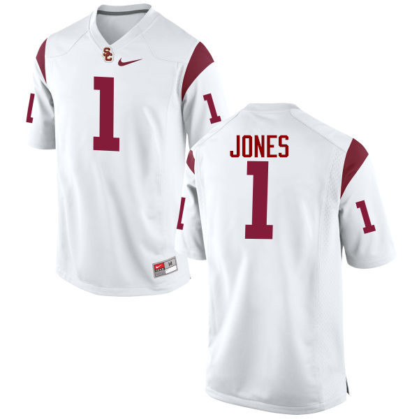 Men #1 Jack Jones USC Trojans College Football Jerseys-White