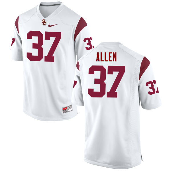 Men #37 Javorius Allen USC Trojans College Football Jerseys-White