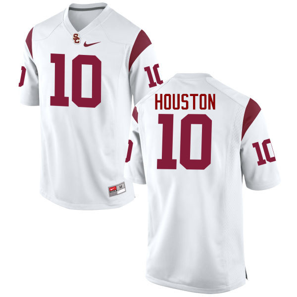 Men #10 John Houston Jr. USC Trojans College Football Jerseys-White