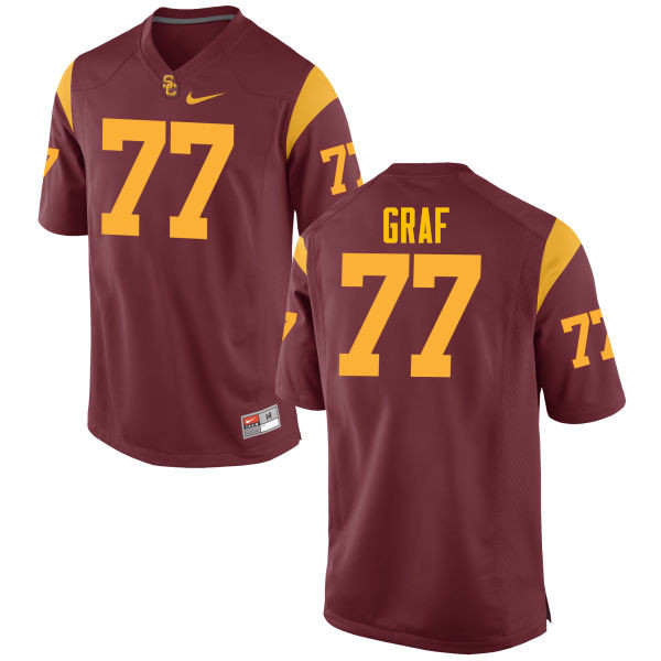 Men #77 Kevin Graf USC Trojans College Football Jerseys-Red