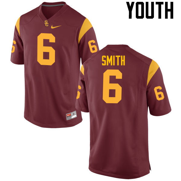 Youth #6 Malcolm Smith USC Trojans College Football Jerseys-Red