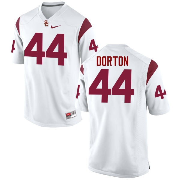 Men #44 Malik Dorton USC Trojans College Football Jerseys-White