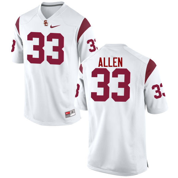 Men #33 Marcus Allen USC Trojans College Football Jerseys-White