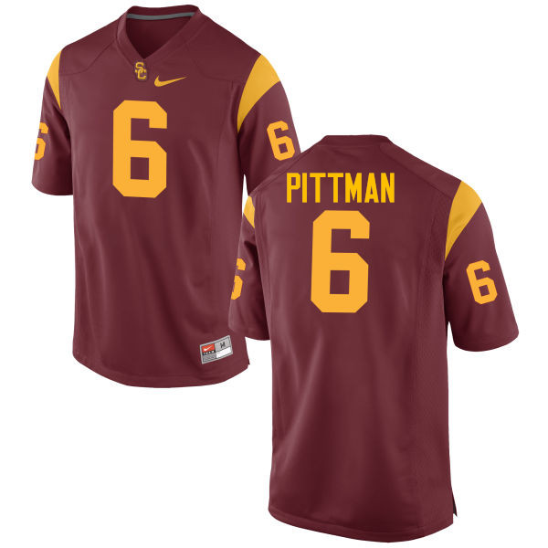 Men #6 Michael Pittman Jr. USC Trojans College Football Jerseys-Cardinal