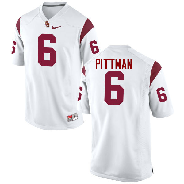 Men #6 Michael Pittman Jr. USC Trojans College Football Jerseys-White