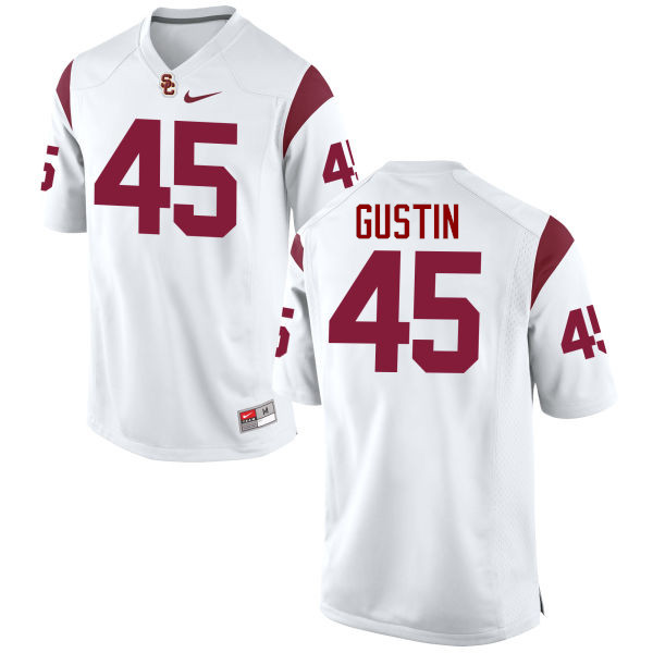 Men #45 Porter Gustin USC Trojans College Football Jerseys-White