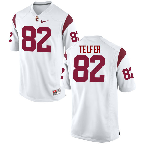 Men #82 Randall Telfer USC Trojans College Football Jerseys-White